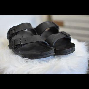 Black Birkenstock Arizona Eva slider sandal 36 6 7